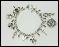 Wholesale Once upon a time in wonderland themed charm TV inspirational bracelet Series BF174
