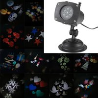 Wholesale TOMSHINE christmas lights outdoor Halloween Christmas Projector Lamp Rotating LED Patterns Pumpkin Ghost USEU AU UK