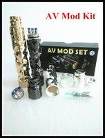 avid design - Supe Cool Mechanical AV Mod Kit Matching RDA Avid Lyfe GYRE design fit battery Thread DHL Free