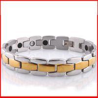 balance wrist band - Health Germanium energy magnetic power bracelet balance men women titanium Energy Bracelets bangles wrist bands