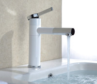 Wholesale white color basin tap Brass white faucet Bathroom Sink Lavatory Basin Faucet white color mixer tap BF001