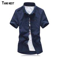 Wholesale Men Short Shirts New Arrival Men s Casual Solid Short Sleeve Shirts Men Summer Style Short Shirts Multi colors MCS580