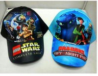 baseball animations - Cotton Star Wars Dragons Cartoon Comics Animation Baseball Sport Cap Hat Adjustable ball caps hats for children Kids Boys Girls