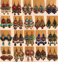 batch mixing plant - Exaggerated retro earrings set auger ancient bronze alloy earrings mixed batch of national wind act the role ofing is tasted