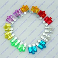 Wholesale 14 ATU LED Standard Blade Fuse SUV Car Truck Boat RV V V A A Glow Blow