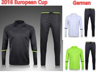 best training cup - Best quality Germanise training suit Europe cup national team Ozil Muller Kroes Football Sportswear Set skinny pants