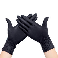 Wholesale 100 pair sets Disposable Black Nitrile Glove Medical Tattoo Mechanic Powder Small Medium Large size Gloves