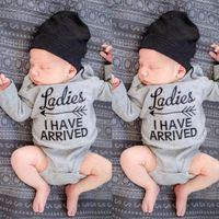 baby boy romper lot - pieces Long Sleeve Infant Kids Baby Boy Girl letter Romper Bodysuit Jumpsuit Clothes Outfits
