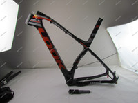 Wholesale 2017 Black Fluo Red EPOST full K mtb carbon Bicycle frame with stem seat post mountain bicycle S M L in ER