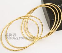 al por mayor al por mayor de hilo de oro de 18 quilates-Nueva Bohemia alambre 18K real pulsera de oro de la joyería extra fino encanto pulsera diseño de la oficina simple venta al por mayor brazalete