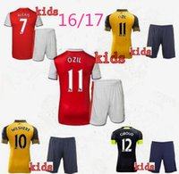 arsenal league - Thailand quality jersey Premier League team Arsenal kids shirts OZIL WILSHERE RAMSEY ALEXIS shirts kids