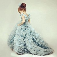 Wholesale Pageant Dresses Luxury Wedding Party Formal Flower Girl Dresses Baby Pageant Gown Custom Prom Dresses Evening Dresses Girls Pageant Gowns
