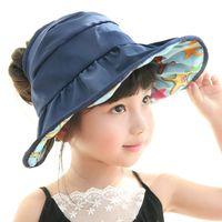 baby headgear protection - 2016 new baby children sun hat kids bucket hats wide brim cap waterproof sun protection headgear unisex baby bucket hat colors B532