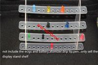 acrylic tier - 2pcs USA mm holes tier E Cigarette Display Stand Detachable Exhibition Shelf For ecigs drip tip mouthpiece vapor shop