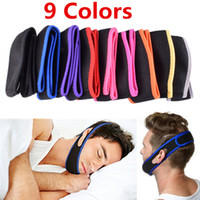 Wholesale 500pcs Colors Anti Snoring Chin Strap Neoprene Stop Snoring Chin Support Belt Anti Apnea Jaw Solution Sleep Device