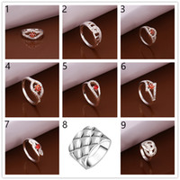 Wholesale Factory direct sale pieces diffrent style silver rings GSSR006A Brand new mix order fashion sterling silver finger ring