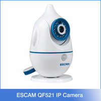 baby voice monitor - 2016 NEW ESCAM Penguin QF521 HD P IP Camera P2P Wirless Wifi Cute Baby Monitor with voice Alarm Support IOS Android phone