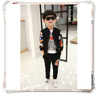 Cheap Kids New Arrival 2016 Spring Fashion Baby Boys Long Sleeve Jacket+pants 2 Pieces Shark Outfits Children's Clothing Set Cool Suit
