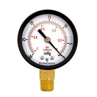Wholesale Dry Utility Vacuum Pressure Gauge Blk Steel quot NPT Lower Mount HG PSI Brand New