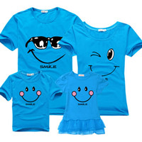 Wholesale Fashion HOT SALE Family fitted summer new cotton short sleeved T shirt family of three Family Pack