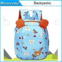 Wholesale Lovely Anti lost Small Bag Child Backpacks Cartoon Prevent Lost Strap Package Baby Boys Girls Bag Kids Pink Blue