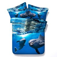 amazing dolphins - Amazing Dolphins under the sea Hd digital print d Animal bed set with VERY good hand feeling and comfortable and soft