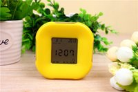 bd digital - Creative novelty color four clock alarm clock countdown temperature rotary induction colorful BD LCD screen