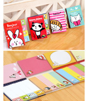 Wholesale 2 Folding Memo Pad Cute Cartoon sticky notes post it scrapbooks adhesive stickers bookmark office school supplies
