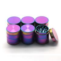 alloy magnets - Hot Ice Blue Grinder New Color mm Pieces Herb Grinder Magnet Top Zinc Alloy Material VS Sharpstone Grinders