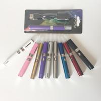 Glass battery starter chargers - Quality EVOD MT3 Blister Kit Hookah Vaporizer vape pen E Cigarette Starter Kit EVOD Batteries mAh mAh mAh with usb charger