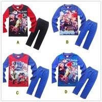 Wholesale 4 Designs Zootopia Children Pajamas Boys Girl Kids Pajamas new Cotton cartoon Pajamas Nick Judy long Sleeve Pants Suits LA231