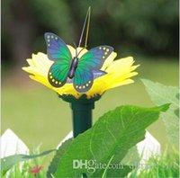 Wholesale 200pcs CCA2186 Pretty Design Solar Butterfly Home Romantic Garden Decorations Simulation Flying Butterfly Flip Flap solar Butterflies