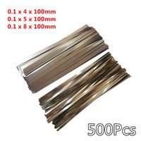 Wholesale 500Pcs mm Nickel Plated Steel Strap Strip Sheets for Battery Spot Welding Machine Welder Equipment
