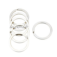 Wholesale In business Set mm Silver Tone Key Chains Metal Flat Split Rings Keyrings Manganese steel Keychains Keys Holder