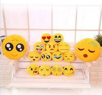 big dollhouse - 32cm Cushion Cute Lovely Emoji Smiley Pillows Plush Toy Cartoon Facial QQ Expression Cushion Pillows dollhouse miniatures Stuffed doll toys
