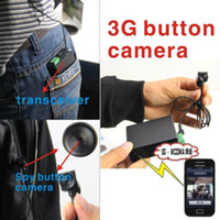 Wholesale Wireless G SIM GSM Button Camera Spy HD Hidden DVR G Video Call For Android Smartphone With Good Lens View Surveillance Camera