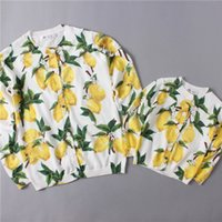 Wholesale 2016 NEW Girls Lemon knitting cardigan kids casual knit citron sweater Female Women sizes mother sizes EMS dhl