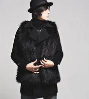 Wholesale 2014 Korean version of the new leisure fashion faux fur vest fox fur vest in imitation of long haired men cheap sale