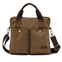Wholesale KAUKKO Business Men Briefcase Shoulder Bag Canvas Messenger Casual Handbag Briefcases Hot Selling