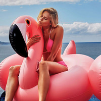 Wholesale 150CM Inch Giant Inflatable Flamingo Pool Toy Swimming Float Swan Cute Ride On Pool Swim Ring For Summer Holiday Fun Party
