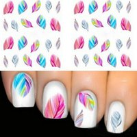 Wholesale Nail Art Decorations Water Transfer Nail Stickers Decal Stickers Manicure Rainbow Dreams Bright Color Sheet Nail Design