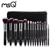 beauty case - MSQ Professional Makeup Brushes Set Make Up Brushes High Quality Synthetic Hair With PU Leather Case For Beauty