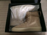 baseball spain - Kanye West Season Crepe Boot Brown New Boot High Cut Made in Spain with Original box Men women boot size