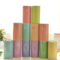 Wholesale children cartoon animal piggy banks Korean styles candy color metal saving box styles for choose kids gift cm