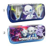 Wholesale Undertale Cosplay Pencil Holder School Case Sans Kids Cartoon Sans Papyrus Pencil Bag Children Cases Stationery bags Purse