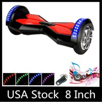 electric scooters - Stock in USA inch LED Scooters Self Balancing Wheel Smart Hoverboard Bluetooth Music Player Electric Skateboard Two Wheels Dropshipping