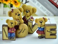 bear font - Decorative furnishing articles LOVE the bear family resin figurines Creative home craft a birthday present best familygift