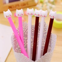 art middle school - 2016 south Korean creative stationery and lovely cartoon cat head neutral pen pen Middle school students office award gift Support drop ship