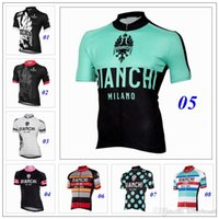 bianchi sale - 2016 New Arrival Bianchi Cycling Tops Short Sleeves Millot Ciclismo Close Fitting Bike Wear Size XS XL Colors For Sale