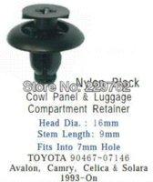 auto cowl - 100PCS Cowl Panel amp Luggage Compartment Retainer For Toyota Avalon Camry Celica amp Solara On Auto Fastener Clips